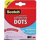 Scotch 010-200UT 200/Pack Adhesive Dots, Ultra Thin
