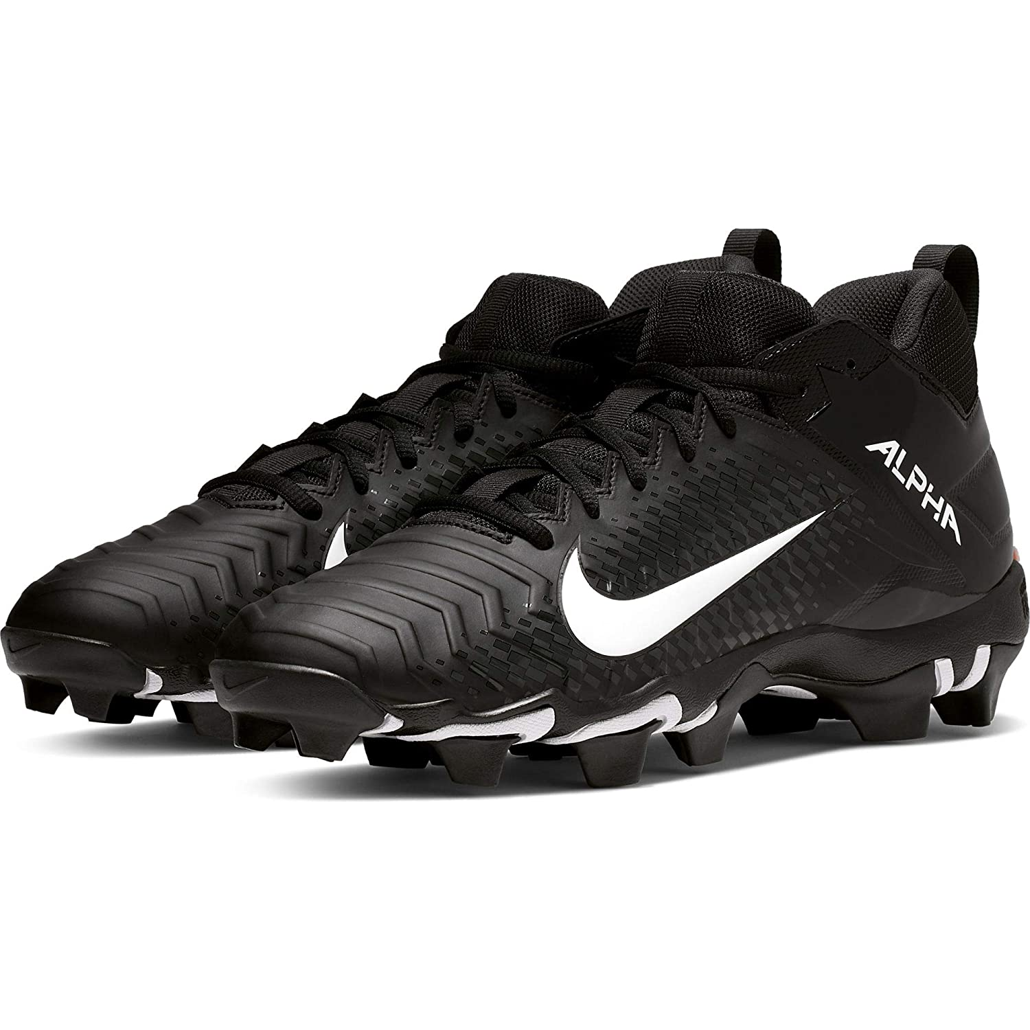 Nike Men's Alpha Menace 2 Shark Wide Football Cleat 黒/白い/Anthracite Size 13 M US