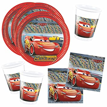 Disney Cars - Fiesta de Cumpleaños Set Parte del Vajilla Race