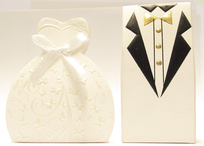 Segnaposto Matrimonio Meno Di 1 Euro.Ict 100 Pezzi Scatoline Porta Confetti Scatola Bomboniera