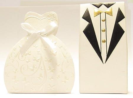 Bomboniere Matrimonio Scatoline.Ict 100 Pezzi Scatoline Porta Confetti Scatola Bomboniera