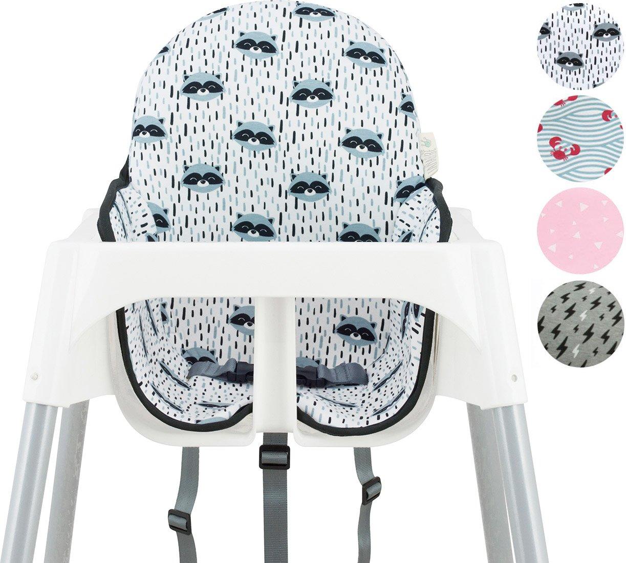 Cushion for high Chair IKEA Antilop by Janabebé (Raccoon)
