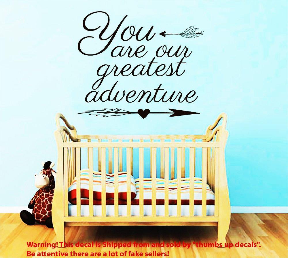 壁デカール引用You Are Our Greatest AdventureデカールBoho Arrowsビニールステッカーキッズ保育園ホーム寝室ボヘミアンDecor t154   B00FWRTB56