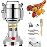 CGOLDENWALL 300g Electric Grain Mill Grinder Safety Upgraded Spice Grinder Pulverizer Stainless Steel Powder Machine for Dry