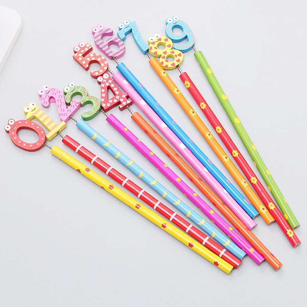 12x Milopon Crayon de Bois HB Cr/éative Crayon /à Papier Pour Papeterie Bureau Enfant Scolaire Couleur Al/éatoire