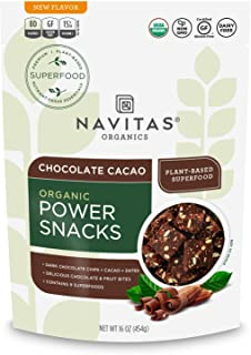 product image for Navitas Organics Superfood Power Snacks, Chocolate Cacao, 16 Ounce. Bag, 23 Servings Organic, Non-GMO, Gluten-Free