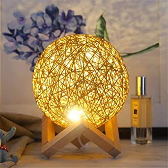 Soporte de lámpara de mesa con luz nocturna led luz usb proyector ...
