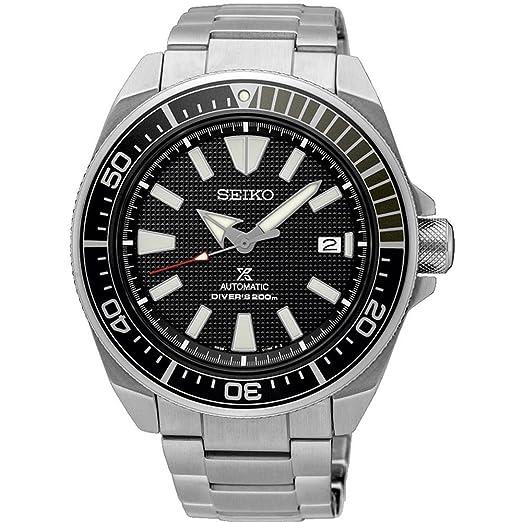 Seiko Reloj Analógico para Hombre de Automático con Correa en Acero Inoxidable SRPB51K1: Amazon.es: Relojes