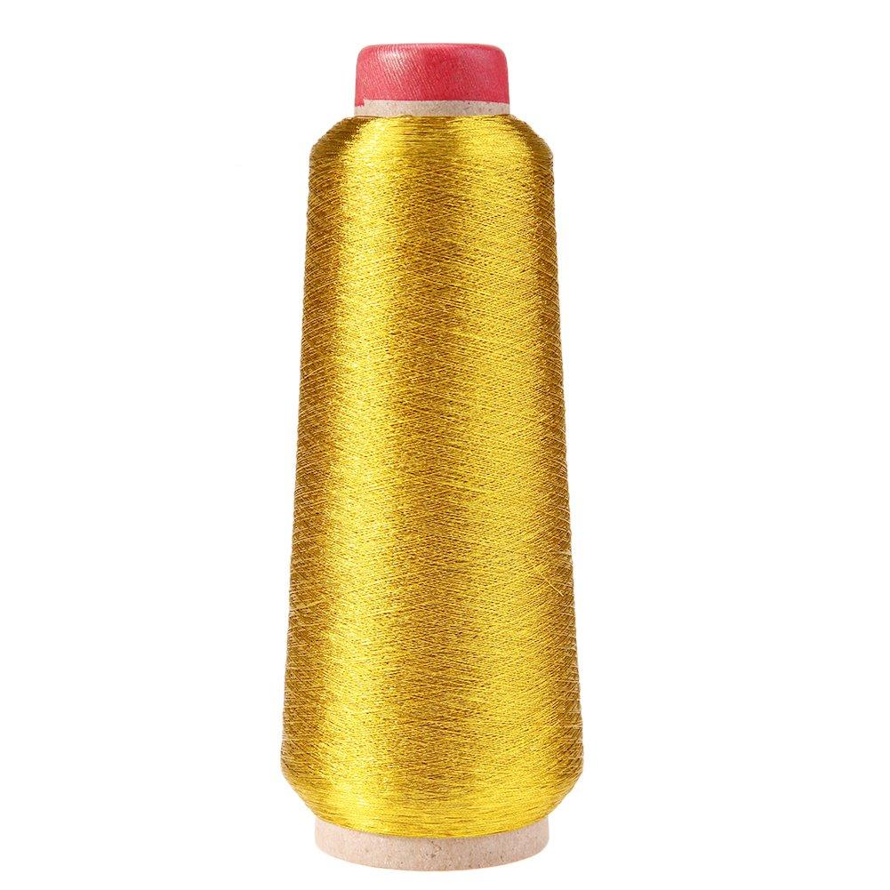 demiawaking hilos de punto de cruz bordado hilo metá lico matchine bobinas de hilo de coser dorado