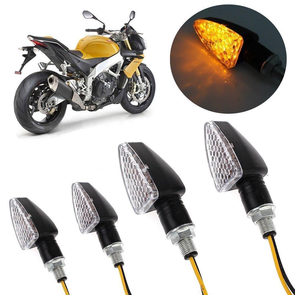 tr/ès Lumineux pour Chopper Moto Motocyclette Bicyclette V/élo Proster Lot de 4 Indicateurs de Direction pour Moto 4 Clignotantes avant et arri/ère 15 LED /Étanches
