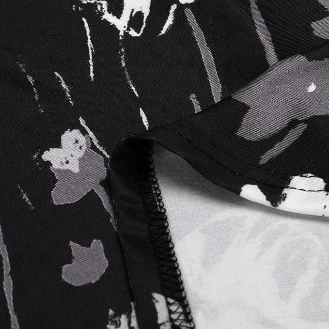 VEMOW Sommer Herbst Elegant Damen Hem V-Ausschnitt Knopf vorne gefaltet ausgestellt bequem l/ässige Tages Party Strand Freizeit lose Tunika Top Shirt Bluse