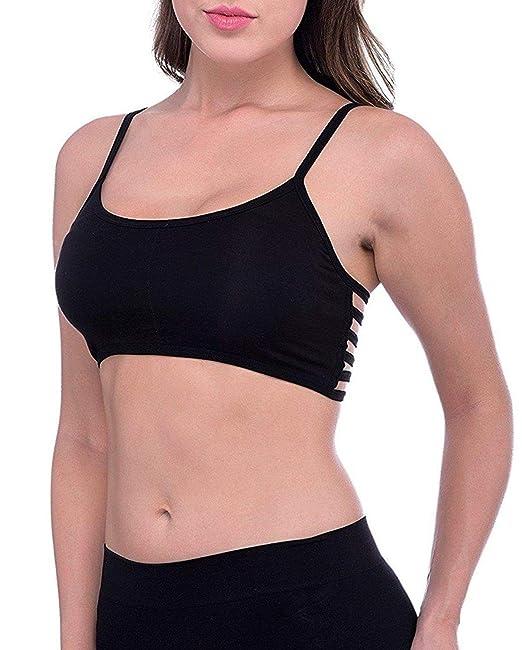 0946750260 Dilency Sales Women s Six Strap Bra Free Size- 30-36 Gym Bra Removable Pads