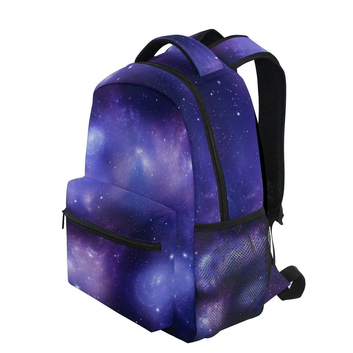 AHOMY ガールズ スクールバックパック ギャラクシー 星 宇宙 大学 ブックバッグ レディ 旅行 リュックサック   B07G43XS4Y