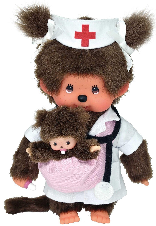 Sekiguchi 236480 - Mon Cicci vestita da infermiera con bebè, 20 cm