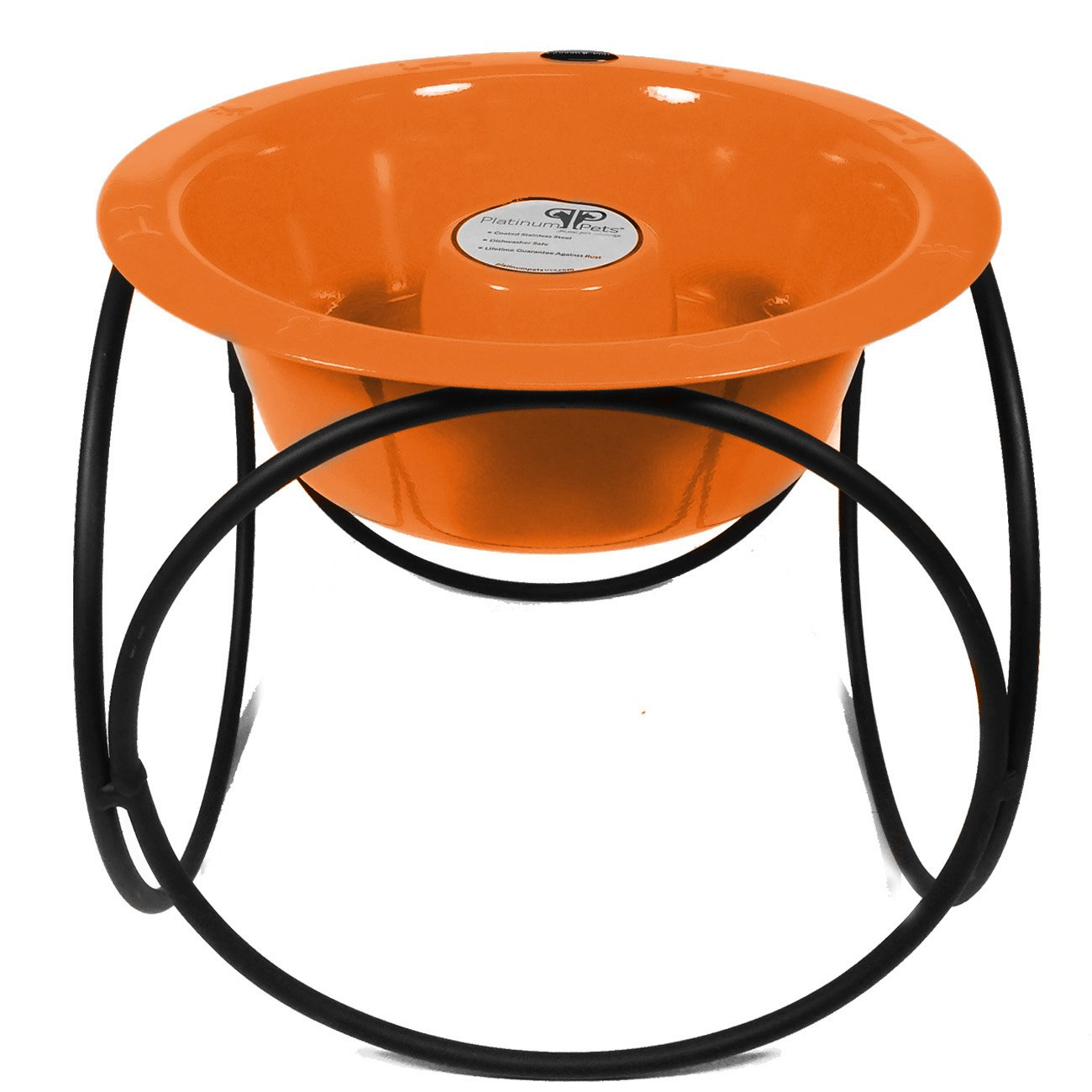 Platinum Pets Slow Eating Single Olympic Diner Feeder with Stainless Steel Dog Bowl, Hunter Orange by Platinum Pets