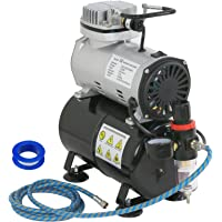 ZENY Pro 1/5 HP Airbrush Air Compressor Kit w/ 3L Tank & 6FT Hose Multipurpose for Hobby Paint Cake Tattoo