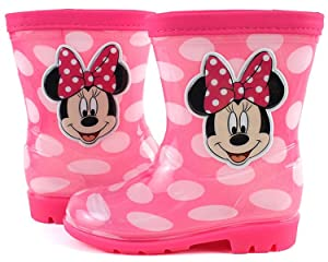 Disney Minnie Mouse Pink Bubble Rainboot 9.5 M US Toddler