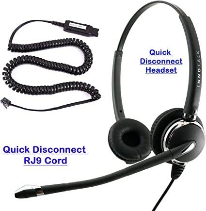 Amazon Com Best Noise Cancel Headset For Avaya 5620 5621 5625 6416 6424 Qe4610 9404 9406 9408 9504 9508 Pro Binaural Phone Headset Hic Headset Cord Home Audio Theater