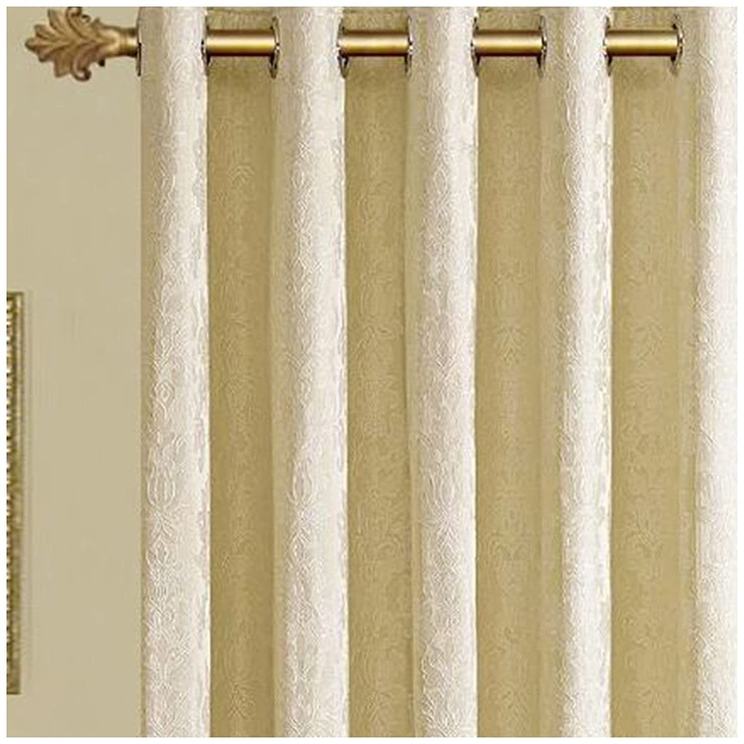 Luxury Jacquard Curtains Fully Lined Lined Lined Ready Made Tape Ring Top Eyelet Curtains 3a5a36