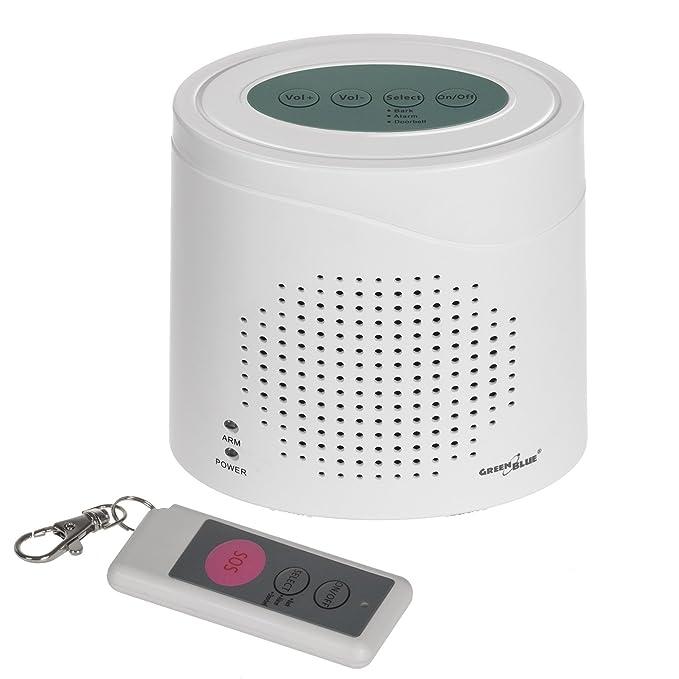 GreenBlue GB115 - Alarma inalámbrica con el Sonido del Perro ladrando, Sensor de Movimiento por Infrarrojos.: Amazon.es: Bricolaje y herramientas