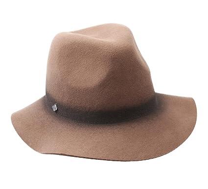 Seeberger Women s Clara Wool Felt Fedora Hat Camel at Amazon Women s ... 0aeb1adb308