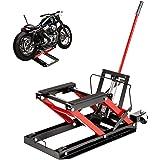 VEVOR Hydraulic Motorcycle Scissor Jack with 1,700LBS Load Capacity, Portable Motorcycle Lift Table, Adjustable Motorcycle Li