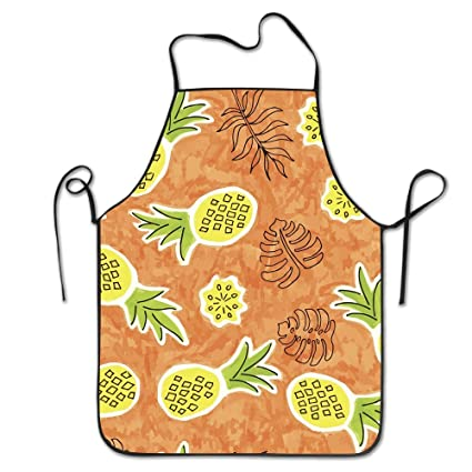 cool personality apron pineapple seamless watercolor pattern outdoor cooking cooking apron for boyfriends ladies christmas gifts