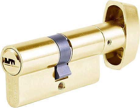 30 x 50 mm Llave Cilindro de Alta Seguridad Doble Embrague Latonado TX80 Tesa Assa Abloy Leva Larga Llave TX853050L