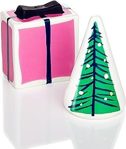 kate spade New York Village Salt & Pepper Set Lenox Gift and Tree 3.25