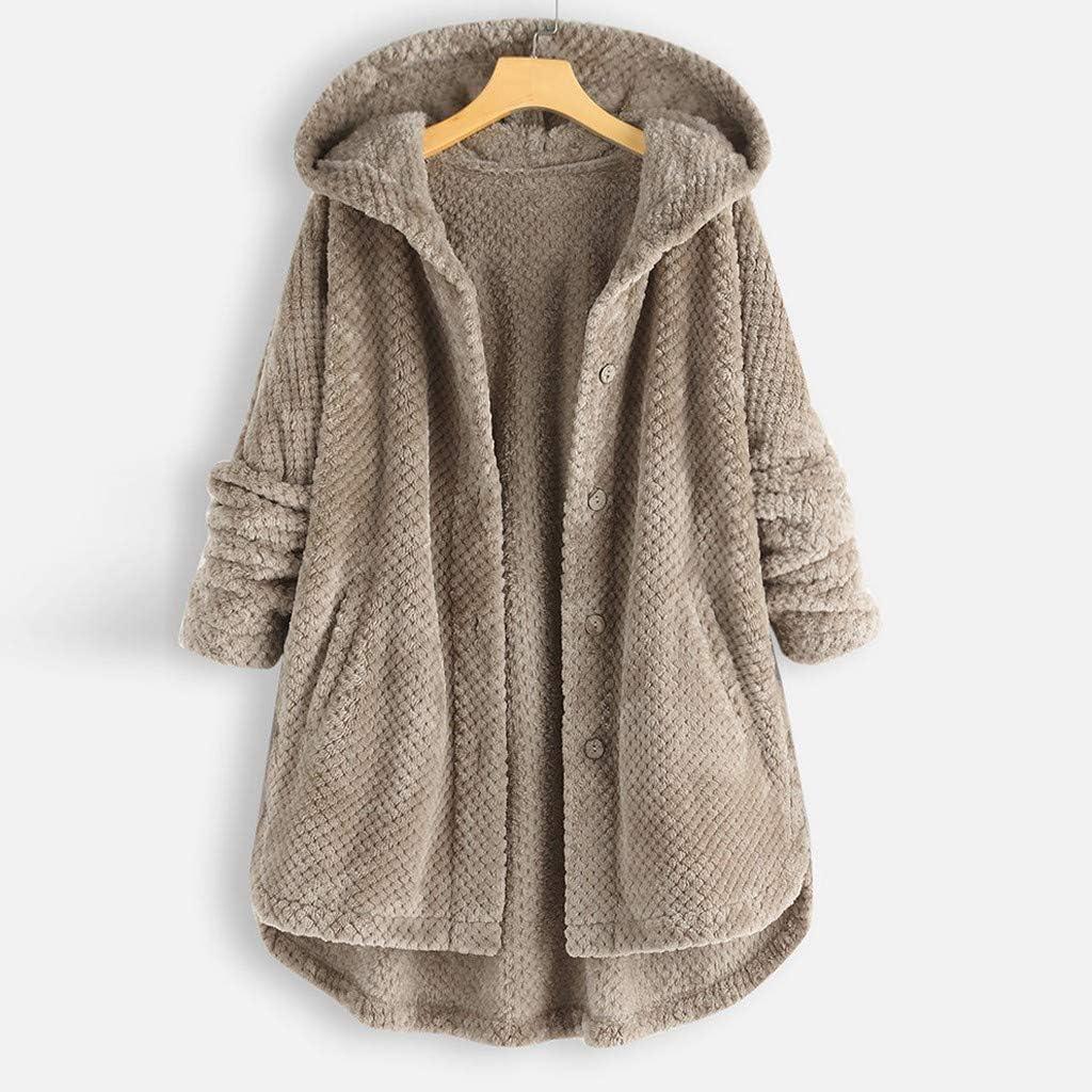E-Scenery 2019 Plus Size Coat Women Vintage Zipper Ethnic Print Hooded Fleece Long Sleeve Tops