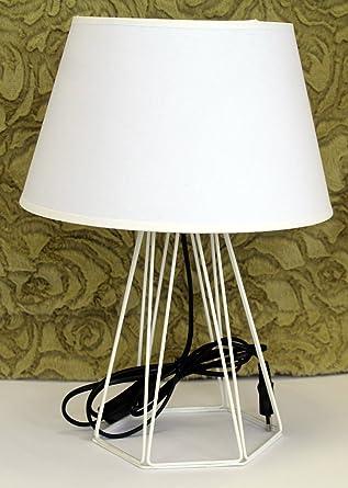 Deltabrinca Lights - Lámpara de Mesa Blanco