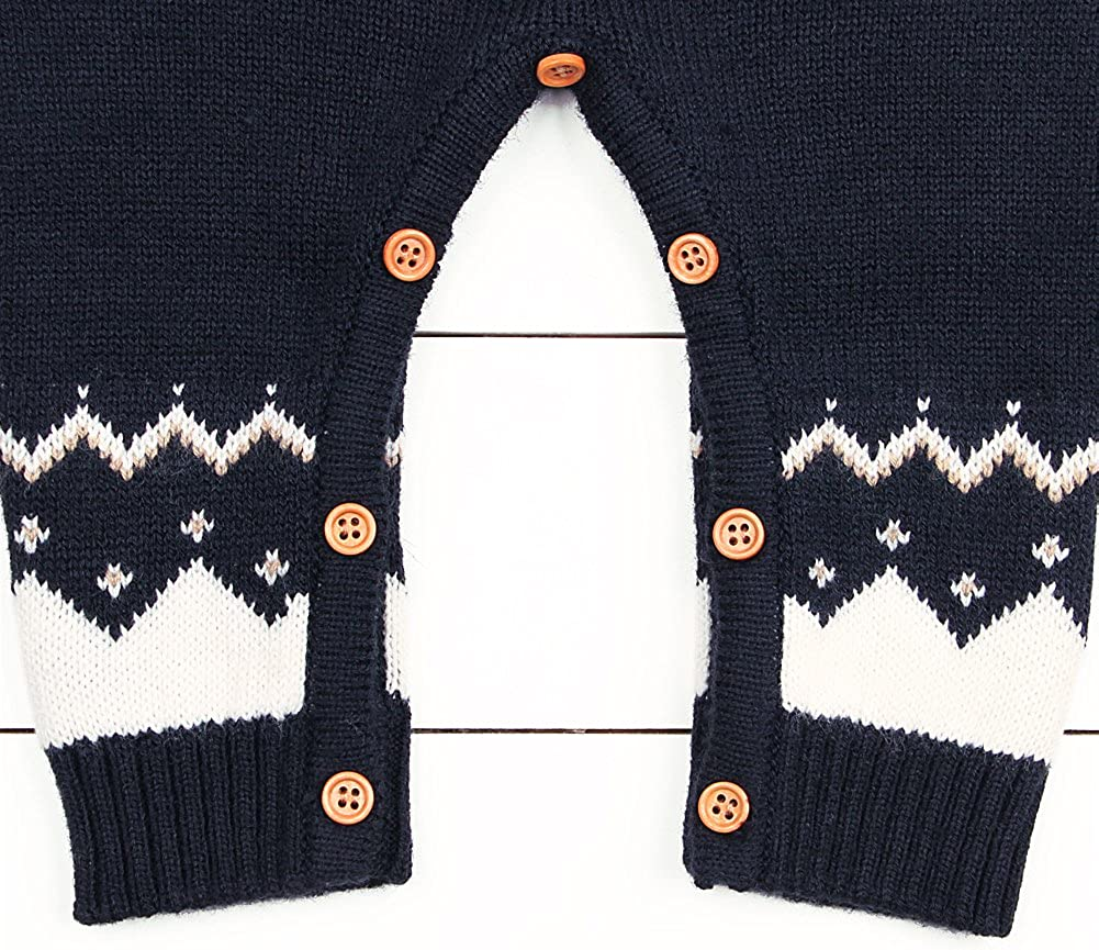 BJHAP Baby Sweater Romper Christmas Unisex Overall Long Sleeve Clothes