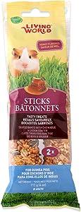 Living World Guinea Pig Honey Treat Sticks,4-Ounce