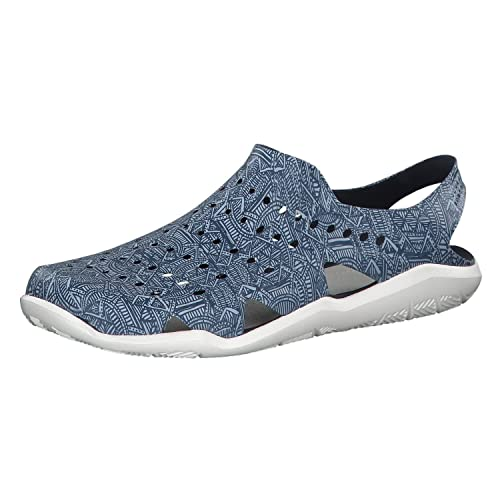 ed9b94293 crocs Men s Swiftwater Wave GRPH M Navy White Sandals-M5 (204964 ...