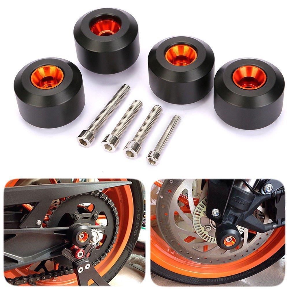 CICMOD Motorcycle Front & Rear Fork Wheel Frame Slider Crash Protector for KTM 125 200 390 Duke K by CICMOD