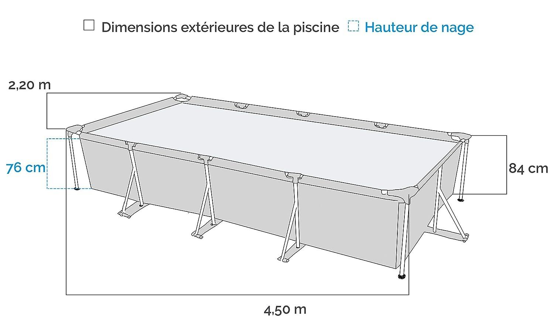 Intex 28273NP Small Frame - Piscina desmontable tubular, 450 x 220 x 84 cm, 7.127 litros