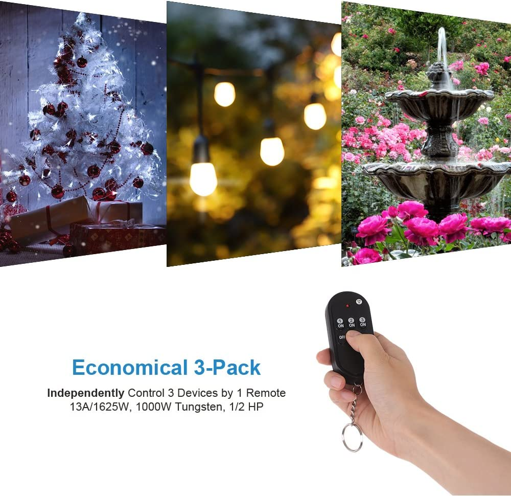 Weatherproof Electrical Dewenwils Outdoor Wireless Remote Control Outlet Kit