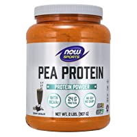 NOW Sports Nutrition, Pea Protein 24 G, Easily Digested, Creamy Chocolate Powder, 2-Pound