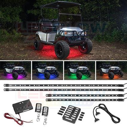 Amazon.com: LEDGlow 4pc Million Color SMD LED Golf Cart Under ... on