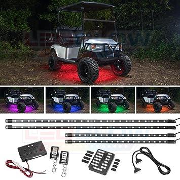 Amazon com: LEDGlow 4pc Million Color LED Golf Cart