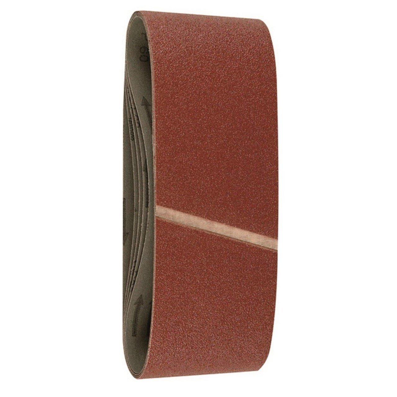 Hitachi - 753260 - Set de 6 ud. de papel de lilja para lijadoras de banda 100x610 mm de granos 60/80/120