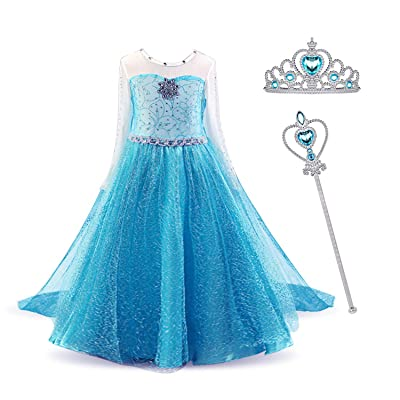 Girls Princess Dress up Toddler Birthday Party Costume for Carnival Cosplay: Clothing
