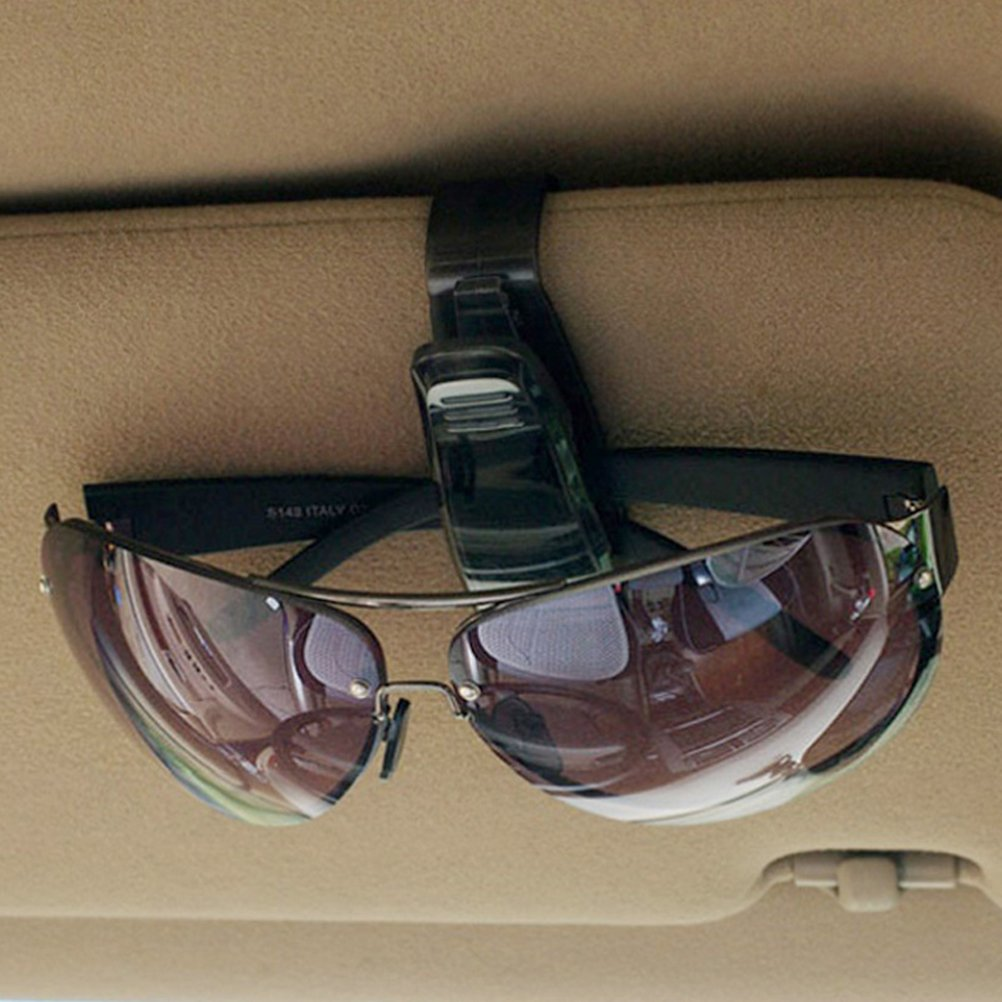 BESTOMZ 2 St/ück Brillenhalter Clip f/ür Auto Sonnenblende Kunststoff Auto KFZ LKW Brillenablage Brillenhalterung