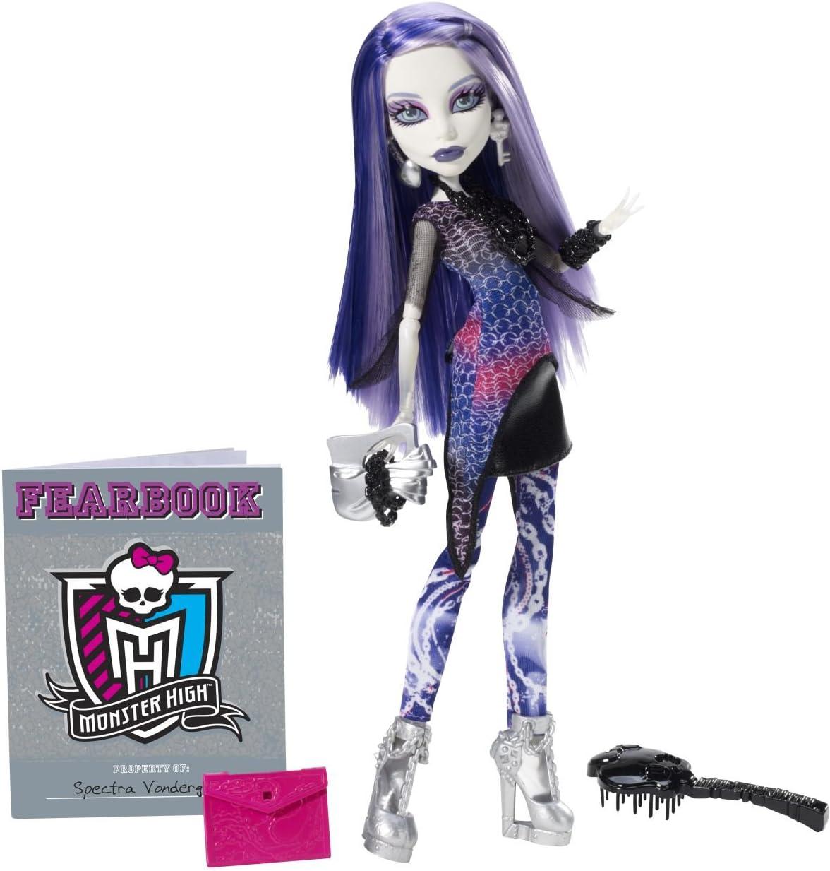 Amazon.es: Mattel Y8499 - Muñeca Monster High (Incluye anuario Escolar), diseño de Spectra Vondergeist: Juguetes y juegos