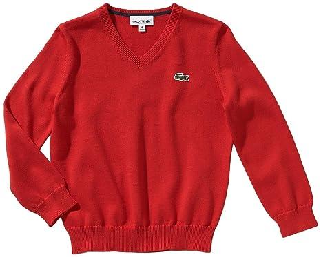 335761c92e0b Lacoste Pullover,Rot ,Größe 86-158 (86 92)  Amazon.de  Bekleidung