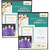 "Uniek (2 Pack Slim 8x10"" Picture Frames Display Documents Photos Vertical Or Horizontal Hanging"