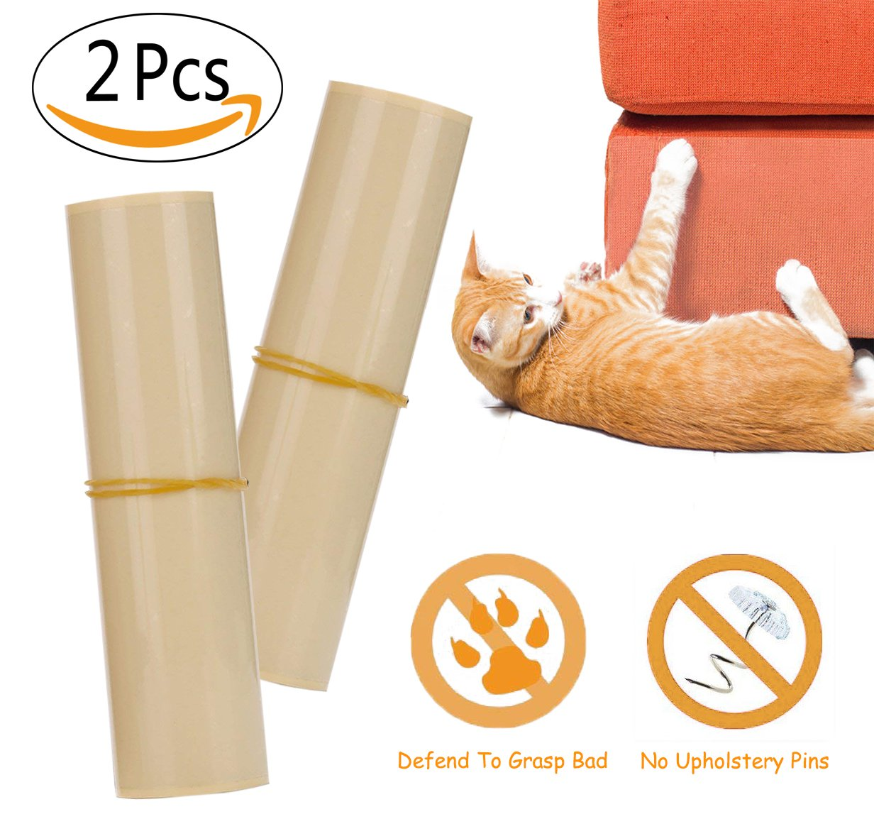 2 Pieces Pet Couch Guard, Furniture Protectors 20x8 inch With Self-Adhesive Pads To Avoid Pets Scratching or Clawing Cover To Protect The Upholstery, Walls, Mattress, Car Seat, Door