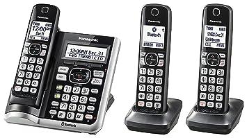 Panasonic kx-tgf573s link2cell bluetoothcordless teléfono con asistencia de voz y contestador automático - 3 teléfonos inalámbricos (Certificado Reformado): Amazon.es: Electrónica