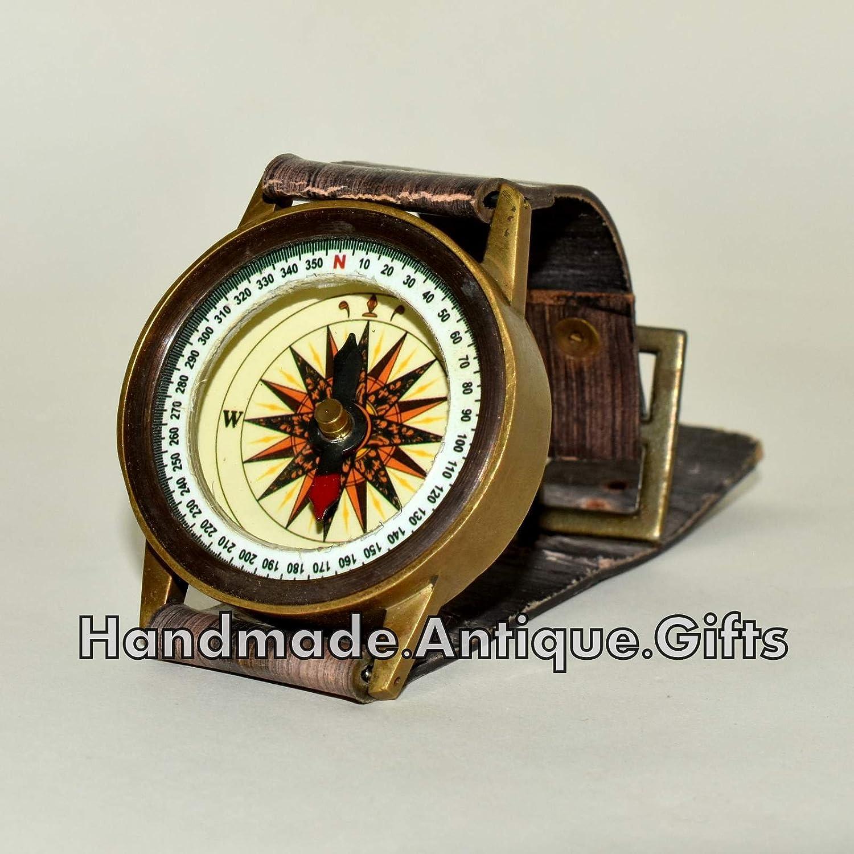 アンティークコンパス手首の作業のキャンプhiking-真鍮コンパスレプリカDad Gift B0749LVX52