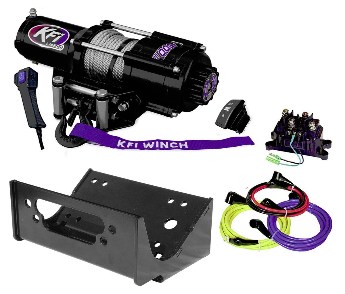 KFI Combo Kit - U45-R2 4500lbs Winch & Mount Bracket - 2012-2013 Kawasaki Teryx4 750 & 2014-2018 Teryx & Teryx4 800